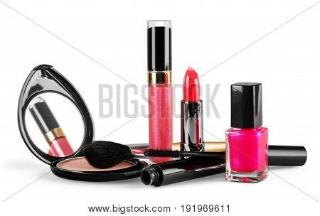 Color colors set cosmetic trendy trend red