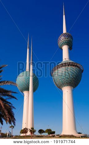 Exterior view to fresh water reservoir aka Kuwait Towers - 07-01-2015 Kuwait