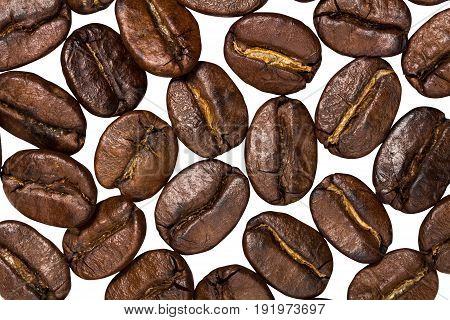 Roasted Brown Coffee Beans Isolated