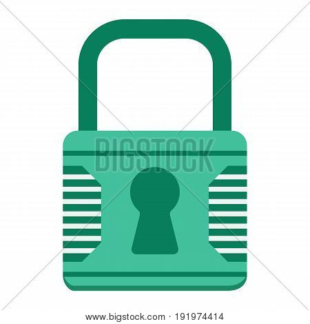 Padlock flat icon, security and lock, vector graphics, a colorful solid pattern on a white background, eps 10.