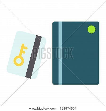 Swipe Card Reader With Keypad line icon, security access and electronic lock, vector graphics a colorful solid pattern on a white background, eps 10.