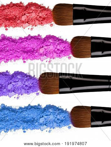Eye brush shadow crushed color white background