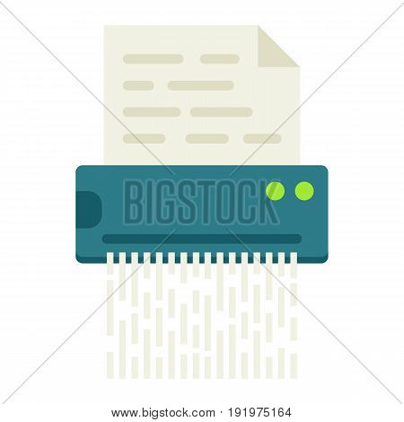 Document shredder flat icon, destroy file and confidential, vector graphics, a colorful solid pattern on a white background, eps 10.