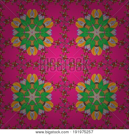Islam Arabic Indian turkish pakistan chinese ottoman motifs. Abstract Mandala. Vector illustration. Oriental colored pattern on colorful background. Vintage decorative elements.