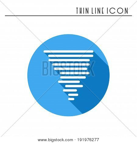 Hurricane line simple icon. Weather symbols. Meteorology. Forecast design element. Template for mobile app, web and widgets. Vector linear icon. Isolated illustration. Flat sign. Logo