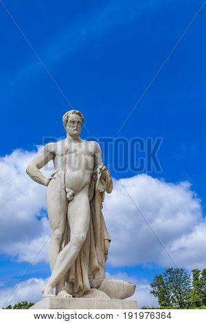 Sculpture Cincinnatus In Tuileries Garden In Paris