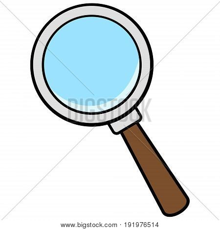 A vector illustration of a Magnifying Glass Icon.