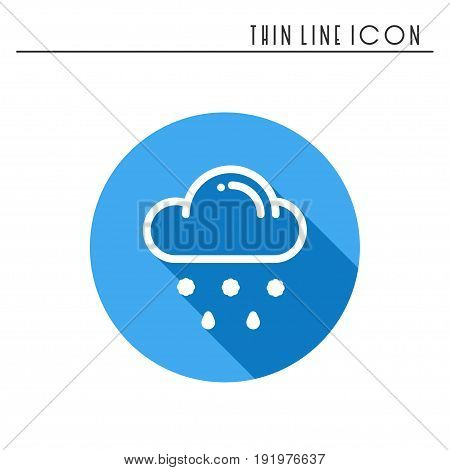Cloud, sky, rain, line simple icon. Weather symbols. Meteorology. Forecast design element. Template for mobile app, web and widgets. Vector linear icon. Isolated illustration. Flat sign Logo