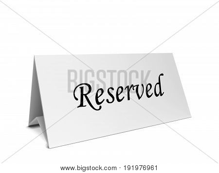 Reservation Card Long Tent