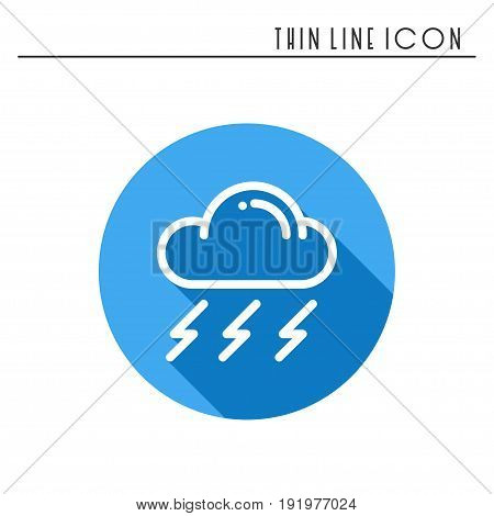 Cloud, sky, rain, storm line simple icon. Weather symbols. Meteorology. Forecast design element. Template for mobile app, web and widgets. Vector linear icon. Isolated illustration. Flat sign Logo