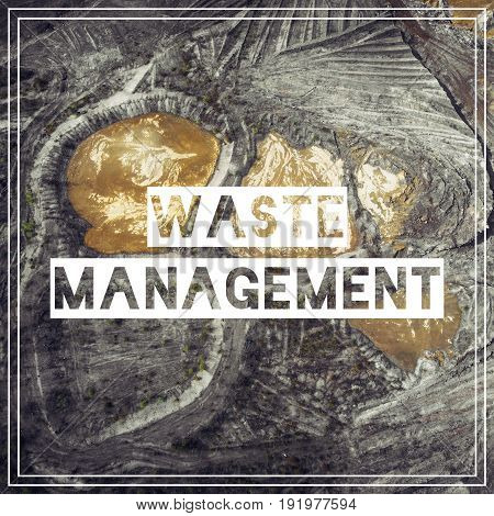 Waste Management. Aerial View Over The Building Materials Processing Factory. Sand Mine. View From A