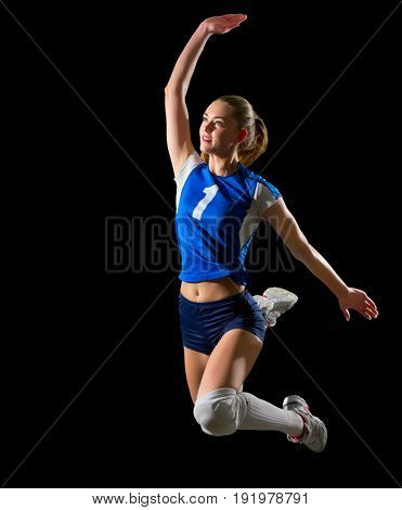 Young woman volleyball player (without ball and net ver)