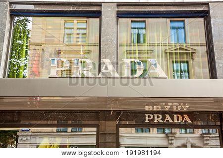 Prada Label / Logo / Sign, Zurich