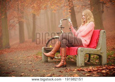 Smiling Girl Listening To Music.