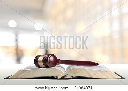 Book gavel background paper isolated closeup business