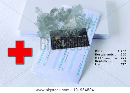 Fire card. Emergency situation after receiving the detail of expenses.