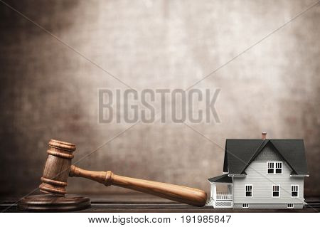 Toy house wood judge gavel object element