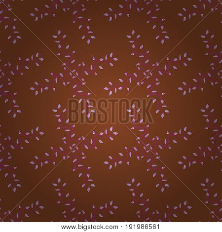 Hand drawn floral texture decorative leaves. Vector seamless colorful floral pattern.