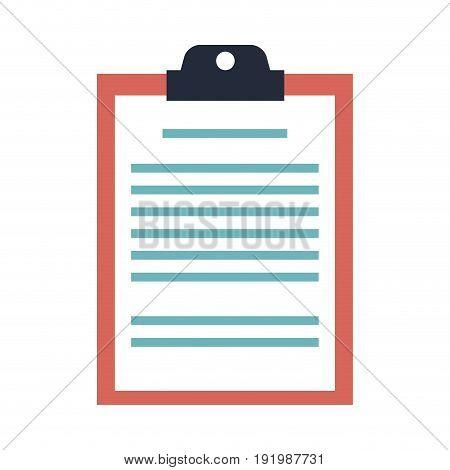 clipboard board document office list business vector illustration