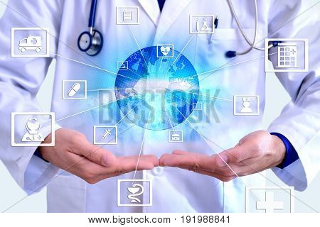 Representation Communication Fields Of Medicine And Globalization Hands