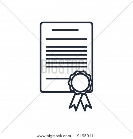 cetificate diploma stamp certificate rosette vector illustration