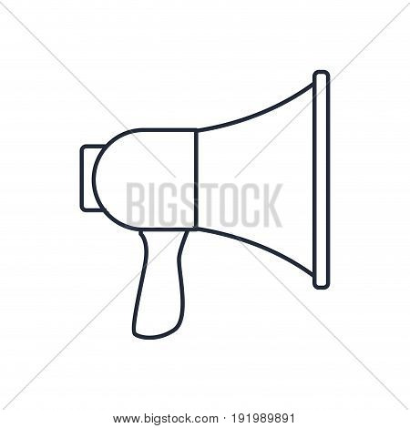 megaphone speaker loud sound marketing symbol vector illustration