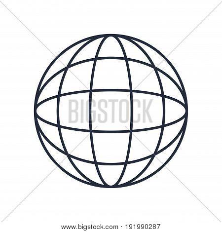 global world earth connection symbol vector illustration