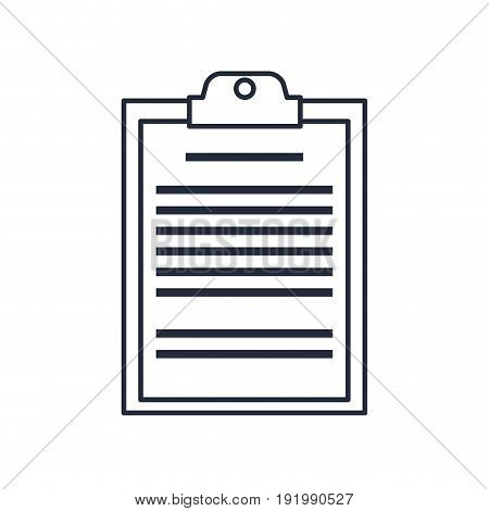 clipboard board document office list business vector illustration