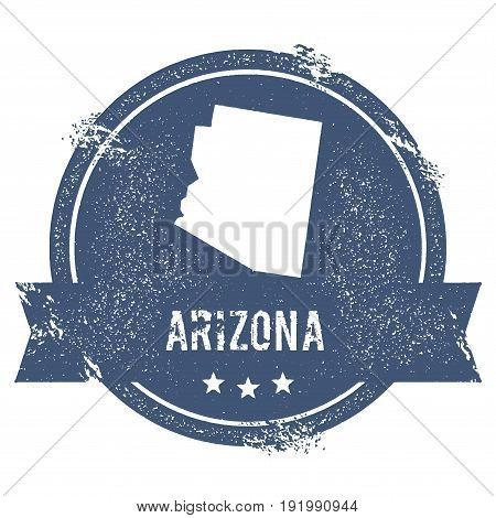 Arizona Mark. Travel Rubber Stamp With The Name And Map Of Arizona, Vector Illustration. Can Be Used