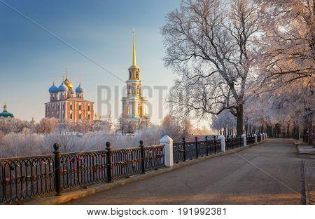 cathedral bell tower of Ryazan kremlin,  XVIII-XIX century, Russia