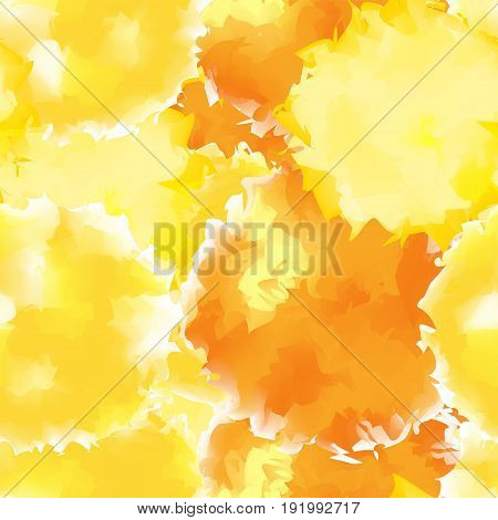 Yellow Seamless Watercolor Texture Background. Appealing Abstract Yellow Seamless Watercolor Texture