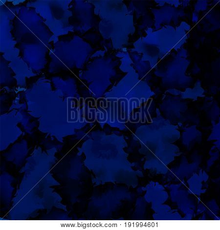 Dark Blue Watercolor Texture Background. Resplendent Abstract Dark Blue Watercolor Texture Pattern.