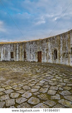 Courtyard of an Old Fortress in Bulgaria