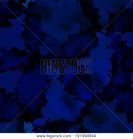 Dark Blue Watercolor Texture Background. Symmetrical Abstract Dark Blue Watercolor Texture Pattern.