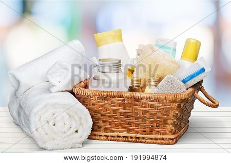Basket accessories bath bar color yellow nobody