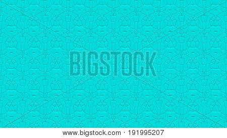 Seamless Abstract Background In Cyan Tones With Scribbles