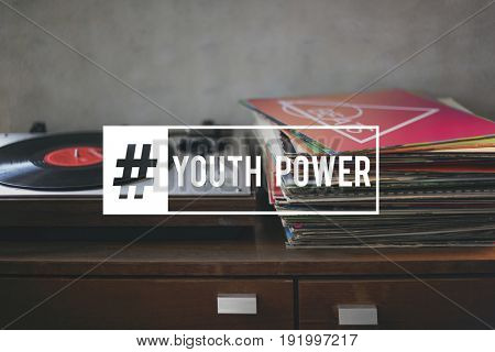 Hashtag Young Attitude Youth Power