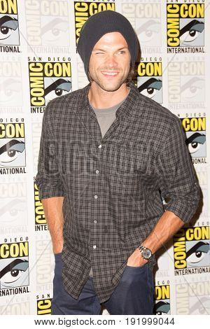 San Diego, CA - July 12, 2015: Jared Padalecki of The CW's Supernatural arrives at Comic Con 2015 in San Diego, CA.