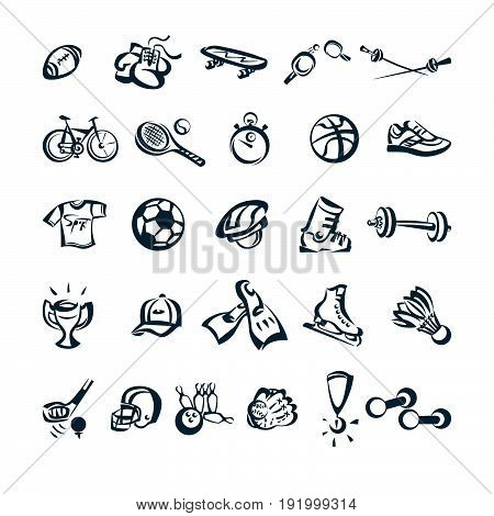 sport drawing cartoon icon. Vector Illustration.. Collection set