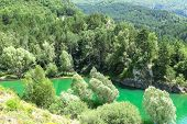 the Escales lagoon in the Catalan Pyrenees Spain poster