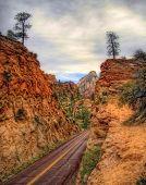 Slopes of Zion canyon. Utah. USA. poster