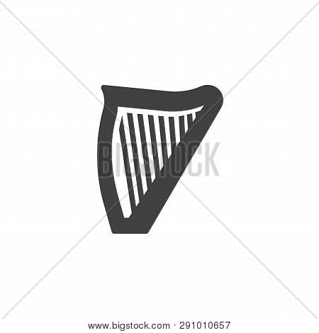 Harp Vector Icon. Filled Flat Sign For Mobile Concept And Web Design. Lyre Glyph Icon. Musical Instr