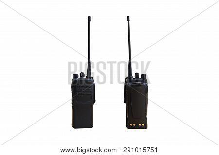 Portable Radio Transmitter On A White Background, With Clipping Path Transmitter, Radio, Portable Se
