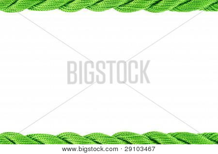Frame  Of Cotton Craft Thread  Green Color