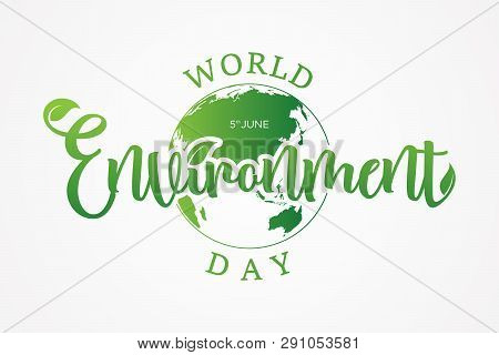 Letter World Environment Day With Globe On The White Background. World Environment Day Element Desig