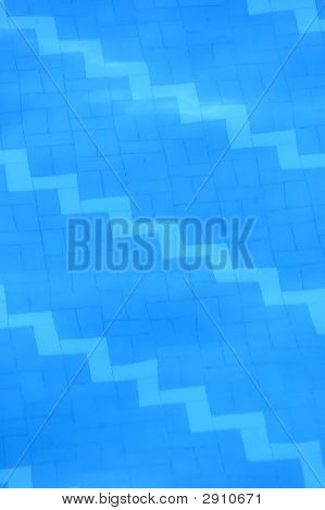 Texture of water in swimming pool for summer related projects poster