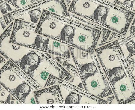 Scattered Dollar Bills