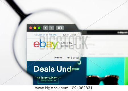 Los Angeles, California, Usa - 23 March 2019: Illustrative Editorial Of Ebay Website Homepage. Ebay