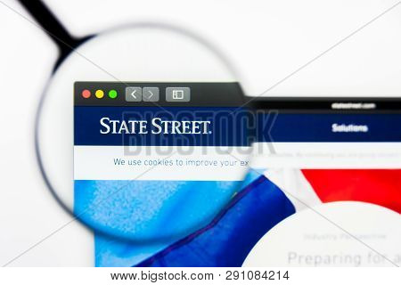 Los Angeles, California, Usa - 23 March 2019: Illustrative Editorial Of State Street Website Homepag