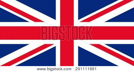 Great Britain Flag. Vector. United Kingdom Uk Official State Sign. National Flag Of England With Uni